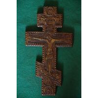 """Крест """"Распятие Христово""""  ( дерево , резьба )  19 см х 35 см"""