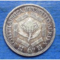 Южная Африка Британский доминион 6 пенсов 1932 Георг V