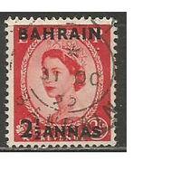 Бахрейн. Королева Елизавета II. Надпечатка на #261 Британии. 1952г. Mi#83.