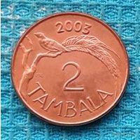 Малави 2 тамбала 2003 года. UNC. Райская Вдовушка. Герб Малави.