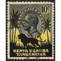 Кошки. Британские колонии Кения, Уганда, Танганьика. 1935. Стандарт. Георг V. Лев. Mi33 Гаш.