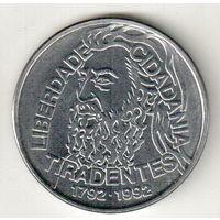 Бразилия 5000 крузейро 1992 200 лет со дня смерти Тирадентиса