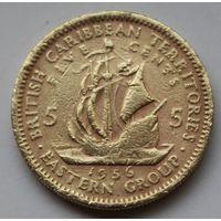 Восточные Карибы, 5 центов 1956 г.