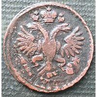 Денга 1734 перечекан ( не частая монета) старт с 1 рубля, без МПЦ