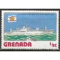 "Гренада. Грузовое судно ""Geesland"". 1976г. Mi#798."