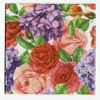 Салфетка для декупажа. Летняя, розы, цветы. 33 х33 см