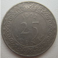 Суринам 25 центов 1962 г. (d)