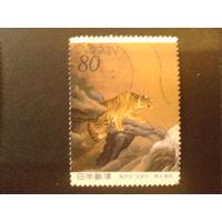 Япония 2000 неделя филателии, живопись тигр