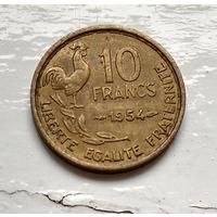 Франция 10 франков, 1954 Без отметки - Париж (R) 2-1-9