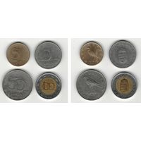 W: Венгрия набор 5 форинтов 2017, 10 форинтов 2007, 50 форинтов 2007, 100 форинтов 1996 (1055)