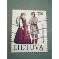 Литва. Национальные костюмы. 1992г. ; гашеная