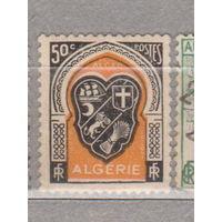 Французские колонии флот корабли парусники герб Алжир 1947-1949 год лот 1012  ЧИСТАЯ