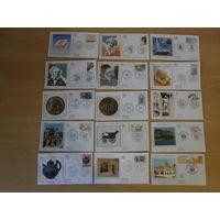 Коллекция конвертов FDC Франция 98 шт.