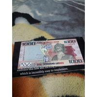 СЬЕРРА-ЛЕОНЕ 1000 леоне 2010 год