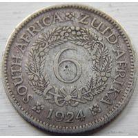 19. Британская южная африка 6 пенсов 1924 год, серебро
