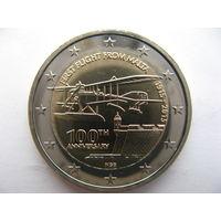 Мальта 2 евро 2015 г. 100 лет Первому полету из Мальты. (юбилейная) UNC!