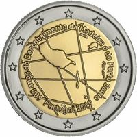 2 евро 2019 г. Португалия  600 лет открытию острова Мадейра UNC из ролла