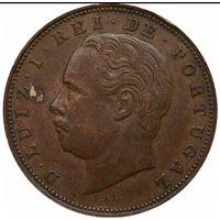 Португалия 10 рэйс 1884г