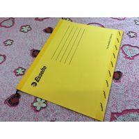 Подвесная папка Esselte новая желтая