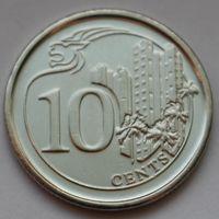 Сингапур, 10 центов 2013 г