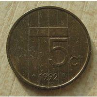 Нидерланды 5 центов 1992 год