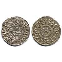 Грошен (1/21 талера) 1612 GM, Германия, Мансфельд-Борнштедт (графство), коллекционное состояние. Редкий!