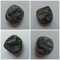 Троада Гаргара Апполон Лошадь 400-284 гг. до н.э. Редкая, очень маленькая монета, которую крайне редко можно найти в состоянии!!!