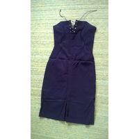 Черное платье-бюстье