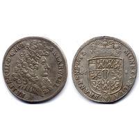 2/3 талера 1692 LCS, Германия, Бранденбург-Пруссия, Фридрих III. Коллекционное состояние