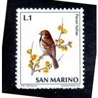 Сан-Марино.Ми-1003. Итальянский воробей. Серия: жизнь птиц. 1972.