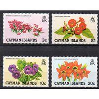 Цветы Каймановы острова 1980 год серия из 4-х марок (М)