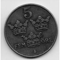 КОРОЛЕВСТВО ШВЕЦИЯ.  5 ЭРЕ 1942
