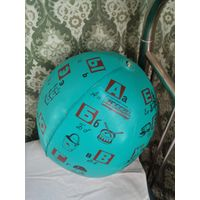 Надувной мяч с алфавитом, СССР, винтаж
