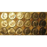 10 центов (дайм) США Список внутри