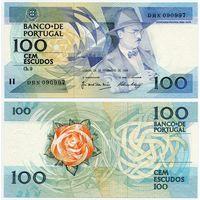 Португалия. 100 эскудо (образца 1988.11.24 года, P179f, подпись 2, UNC)