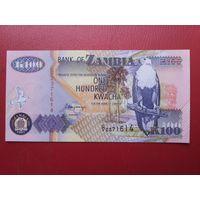 Банкнота 100 квача Замбия.