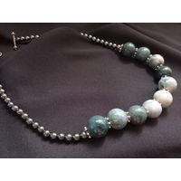 Бусы, ожерелье, камень, 45см