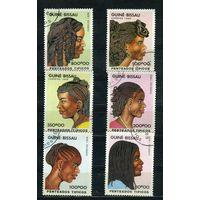 Гвинея-Бисау 1989г, прически, 6м.