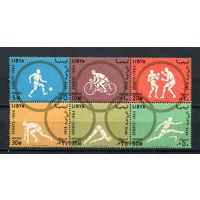 Ливия - 1964 - Летние Олимпийские игры - сцепка - (клей с трещинами) - [Mi. 160-165] - полная серия - 6 марок. MNH.