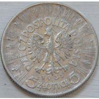 15. Польша 5 злотых 1935 год. серебро