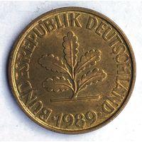 Германия (ФРГ), 10 пфеннигов 1989 (F)