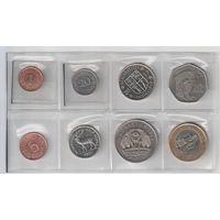 Набор монет Маврикия (1987-2012 год)  1,5,20,50 центов и 1,5,10,20 руфий всего 8 монет