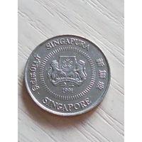 Сингапур 10 центов 1991г.
