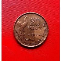 91-11 Франция, 20 франков 1953 г. (В)