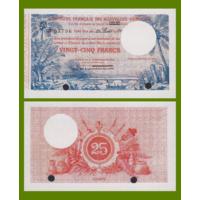 [КОПИЯ] Новые Гебриды 25 франков 1921г. (Образец)
