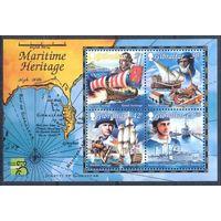 Гибралтар 1999 Корабли. Карты, блок