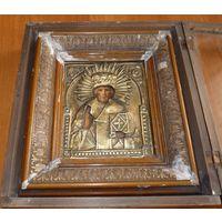 Икона Святителя и Чудотворца Николая.19 Век,без мнц,Киот!