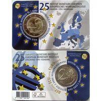 Бельгия, 2 евро 2019 25 лет Европейскому валютному институту, 1-й вариант оформления блистера