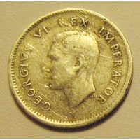 Южная Африка, 3 пенса 1942, серебро