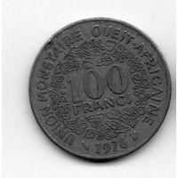 ГОСУДАРСТВА ЗАПАДНОЙ АФРИКИ 100 ФРАНКОВ 1976